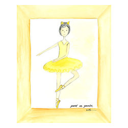 """Oh How Cute Kids by Serena Bowman - Yellow Ballerina, Ready To Hang Canvas Kid's Wall Decor, 8 X 10 - """"Dancer in Yellow""""  This is a darling little picture. Perfect for the little dancer in your life. Nothing is sweeter than a little ballerina!"""