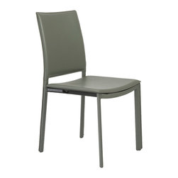 """Eurostyle - Eurostyle Kate Side Chair in Taupe Leatherette [Set of 4] - Side Chair in Taupe Leatherette belongs to Kate Collection by Eurostyle Leatherette covered seat, back and legs on steel frame. Seat height: 18"""". Seat depth: 17"""". Durable, easy-to-clean leatherette. Clean and sleek design. Set of 4. Hardware, Assembly Parts, Instructions included inside the box. 1 Year Manufacturer Warranty. Side Chair (4)"""
