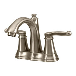 MR Direct - MR Direct 754-BN Brushed Nickel Widespread Lavatory Faucet - The 754-BN Double Handle Faucet presents a graceful curved design with a hint of traditional sentiment. Its compact design makes it a perfect fit in smaller spaces. Available in chrome, brushed nickel or oil-rubbed bronze, the 754-BN is tested and proven to function properly. Comes with a discreet lift rod positioned behind the faucet. Shipped with ADA approval and our limited lifetime warranty.