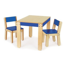 P'kolino - Little One's Table and Chairs - Cobalt - Little One's Table and Chairs in Cobalt