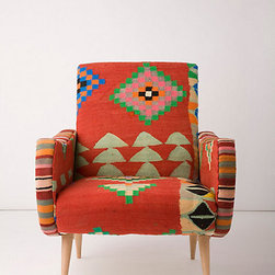 One-Of-A-Kind Berr Armchair, Up Arrows - With a nod to a Southwest vibe, this modern but vintage-inspired chair sports arrows.