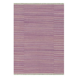 Loloi Rugs - Loloi Rugs Anzio Pink Transitional Hand Woven Rug X-670500IP10-OAIZNA - The Anzio Collection, an all-wool, solid-colored flat weave from India, offers a transitional, tonal look in a choice of: aqua, apple, pink, denim, charcoal, moss, purple and blue. Anzio is updated with the addition of fringe, which is making a comeback in new rugs.