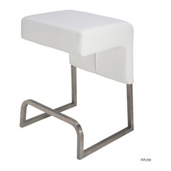 Ernie Counter Stool, White, Set of 2