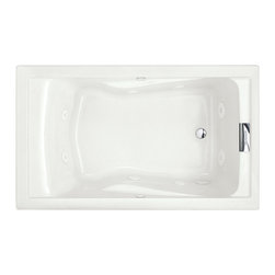 American Standard - Evolution 60 inch x 36 inch Whirlpool Tub with EverClean in White - American Standard 2771VC.020 Evolution 60 inch x 36 inch Whirlpool Tub with EverClean in White. The American Standard Evolution 5 ft. Whirlpool and Air Bath Tub in White is built from acrylic with fiberglass reinforcement for durability and features a form-fitted back rest for user comfort. The 8 jets and 1.4 HP pump provide a relaxing and restorative massage, and the reversible drain location (drain not included) allows flexibility when installing.American Standard 2771VC.020 Evolution 60 inch x 36 inch Whirlpool Tub with EverClean in White, Features:Acrylic construction with fiberglass reinforcement for durability