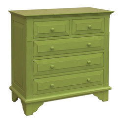 EuroLux Home - New Chest of Drawers Green Bachelor Painted - Product Details