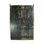EuroLux Home - Consigned Antique Chinese Doors Large Nails Painted - Product Details