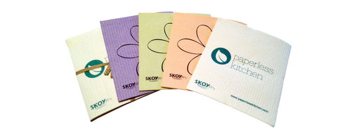 Skoy - PaperlessKitchen Skoy Kitchen Set - 8 Cloths - There will never be a reason to cry over spilled milk when you manage kitchen messes with SKOY cleaning cloths. These 100 percent biodegradable, cellulose-based cloths pack the cleaning power of 15 rolls of paper towels into one green design. The SKOY Clo