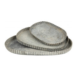 Zinc Oval Trays