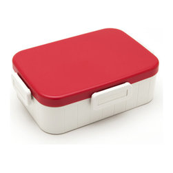 Skater Co. - Skater Lunch Box No. 1 M, Red - In Japan, food presentation is an artful endeavor - bento boxes keep your meal beautifully contained in a portable, appetizing form. Skater Co. Ltd's version, the Skater Lunch Box No. 1 M, keeps things fun and functional. Each box features an adjustable divider, an airtight lock-on lid, and are available in five vibrant colors. BPA-free, microwave and dishwasher-safe for worry-free food storage.