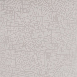 Graham & Brown - Maps Wallpaper - this is our cracked map effect wallpaper in white, this is a good eye catching piece of wallpaper with its pearl shimmer will shine in any light, white will go in any room within your home.