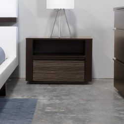 """Star International - Del Mar 1 Drawer Nightstand - Features: -Contemporary design.-Chocolate oak finish.-Distressed: No.-Collection: Elements.-Frame Material: MFD and open pore oak veneer.-Finish: Chocolate.-Gloss Finish: Yes.-Drawers Included: Yes -Number of Drawers: 1.-Drawer Interior Finish: Chokolate finish.-Drawer Glide Material: Metal.-Drawer Glide Extension: Full.-Soft Close or Self Close Drawer Glides : No.-Ball Bearing Glides: Yes.-Drawer Handle Design: Handle..Specifications: -CARB Compliant: Yes.Dimensions: -Overall Product Weight: 62 lbs.-Overall Height - Top to Bottom: 18"""".-Overall Width - Side to Side: 26"""".-Overall Depth - Front to Back: 18"""".-Drawers: Yes.-Cabinets: No.-Shelving: Yes.-Legs: Yes.Assembly: -Assembly Required: No.Warranty: -1 Year manufacturer warranty."""