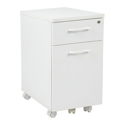 Office Star - Office Star Prado Mobile File in White With Hidden Drawer and Casters - OSP Designs Prado Mobile File in White with Hidden Drawer and Casters What's included: Filing Cabinet (1).