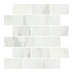 "Lansdale Carrara Mosaics - We love Carrara for its variation, elegance and affordability. This 2x4"" is a great size for bathroom wainscoting or a kitchen backsplash."