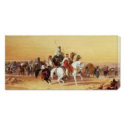 None - John Frederick Herring 'An Arab Caravan' Stretched Canvas - Artist: John Frederick HerringTitle: An Arab CaravanStyle: European Paintings