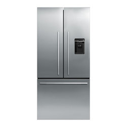 "31"" Stainless Steel French Door Refrigerator - RF170ADUSX4 - An exciting new refrigerator that leads the market in features yet with useable refrigerator and freezer space superior to that of similar sized alternatives. 17cuft of space, ActiveSmart refrigeration system, fruit and vegetable humidity control system, automatic ice making, chilled filtered water on demand and strong extendable storage drawers make this the complete appliance."
