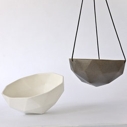 Kelly Lamp Planters - Somewhere between macrame and Buckminster Fuller, these geodesic planters add big modern style wherever they hang.