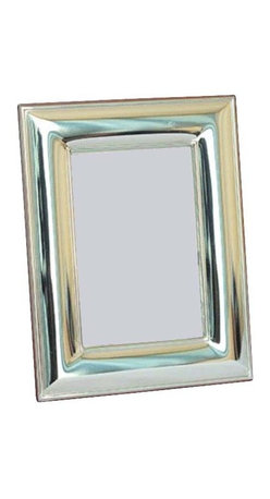 "Silverstar International - 3.5""x5"" Maleka Sterling Silver Picture Frame - Display your favorite wedding day picture in our Maleka anniversary picture frame. Designed with a curved wide border, the Silverstar International bi-laminated 925 Sterling Silver picture frame is meticulously manufactured to an aluminum base for strength & attached to a veneer mahogany wooden back and easel. Every Silverstar picture frame is designed with a tarnish resistant surface for easy cleaning and glare resistant glass. It is the perfect traditional wedding, anniversary, or birthday gift."