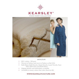 Digital Sample Book - Kearsley Couture, Turkish Terry, Towels and Robes