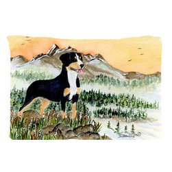 Caroline's Treasures - Entlebucher Mountain Dog Fabric Standard Pillowcase Moisture Wicking Material - Standard White on back with artwork on the front of the pillowcase, 20.5 in w x 30 in. Nice jersy knit Moisture wicking material that wicks the moisture away from the head like a sports fabric (similar to Nike or Under Armour), breathable performance fabric makes for a nice sleeping experience and shows quality. Wash cold and dry medium. Fabric even gets softer as you wash it. No ironing required.