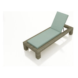 3 Pc. Hampton Outdoor Chaise Lounge Set by Forever Patio - The 3 Piece Hampton Chaise Lounge Set by Forever Patio (FP-HAM-3CLS) makes for a great addition to the poolside or wherever you desire stylish outdoor lounging. The set seats 2 adults comfortably, and includes 2 chaise lounges and an end table with a glass top. This set features Chocolate wicker, which is made from High-Density Polyethylene (HDPE) for outdoor use. Every strand of this wicker is infused with the rich color and UV-inhibitors that prevent cracking, chipping and fading ordinarily caused by sunlight. Each piece features thick-gauged, powder-coated aluminum frames that make the set extremely durable and resistant to corrosion. Also included with the set are cushions covered in fade- and mildew-resistant Sunbrella® fabric, available in a wide selection of colors. Whichever look you choose, you will rest easy on these comfortable cushions and durable frame.