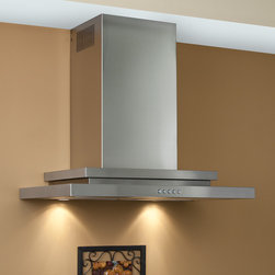 "30"" Pelos 2100 Series Stainless Steel Wall-Mount Range Hood - 860 CFM - Add professional ventilation to your modern kitchen with the Pelos 2100 Series range hood. This 30"" stove vent system is made of stainless steel and is designed to mount on your wall."