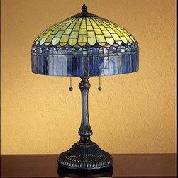 Meyda Tiffany - Meyda Tiffany 26322 Stained Glass / Tiffany Table Lamp Tiffany Candice - Tiffany ReproductionsTiffany Candice Table Lamp2 Medium base bulbs, 60w (max)