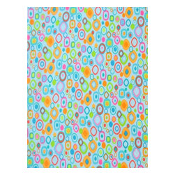 """SheetWorld - SheetWorld Crib Sheet Set, Fun Shapes Blue - This 100% cotton flannel"""" crib / toddler sheet is made of the highest quality fabric that's double napped. That means these sheets are the softest and most durable. Sheets are made with deep pockets and are elasticized around the entire edge which prevents it from slipping off the mattress- thereby keeping your baby safe. These sheets are so durable that they will last all through your baby's growing years. We're called sheetworld because we produce the highest grade sheets on the market today. Features fun shapes on a blue background.  Size: 28 x 52. Set includes 1 fitted sheet- 1 flat sheet- and 1 todder size pillow case."""" Made in the USA."""