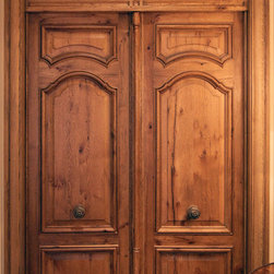 Authentic Carved French Doors & Transom -