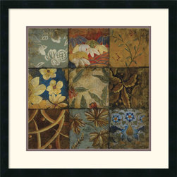Amanti Art - Floral Mosaic IV Framed Print by John Douglas - With its subtle floral patterns and cascading layers of visual texture, this image offers understated elegance to just about any room.
