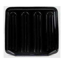 Rubbermaid - Rubbermaid Small Black Dish Drainer Tray (6 Pack), Black (1180MABLA) - Rubbermaid 1180MABLA Small Black Dish Drainer Tray (6 Pack), Black