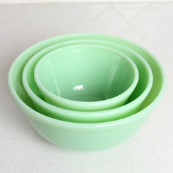 Jadeite Mixing Bowl Set - Jadeite mixing bowls are wonderfully old-fashioned. You can buy a new version or, if you love the hunt, seek out vintage pieces.