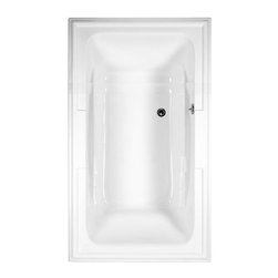 """American Standard - American Standard 2742.002.020 White Town Square Town Square 71-1/2"""" - Product Features:Fully covered under a lifetime warranty; including free lifetime in-home serviceManufactured and assembled in the United States of AmericaSoaking tub; basic and easy to installDrop-in installation; tub is dropped into a pre-cut deck or islandConstructed of ultra-durable fiberglass-reinforced acrylicSurfaced with the industry s best stain-blocking high-gloss finishTub proportions and contour designed by industry leading ergonomics engineersSlip-resistant flooring - textured finishing technique appliedSelf-leveling base structural support cuts installation time and costsTub waste (drain) is not included - this will be presented upon adding to cart, with multiple available finishesTechnologies / Benefits:Lifetime Warranty with In-Home Service: This tub is covered under the industryÂ's only Limited Lifetime Warranty with free lifetime in-home service. This speaks volumes to the quality of American Standard tubs.Self-Leveling Base: A major time-saver during installation, this tubÂ's self-leveling base eliminates the need to fret over a perfectly level base structural supportÂ… high-density compressible pads do the work for you, compensating for any imperfections. DIYÂ'ers and contractors both appreciate this feature.Premium Acrylic: Luxury American Standard tubs all use premium acrylic for a reason: it retains a glossy finish, is flexible (will never chip, crack or craze), easy to clean, and far lighter (and easier to install) than cast iron. Premium Acrylic means that it is reinforced with a fiberglass composite for maximum strength.Product Specifications:Overall Length: 71-1/2"""" (head-to-toe measurement when lying inside the tub)Overall Width: 41-3/4"""" (shoulder-to-shoulder measurement wh"""