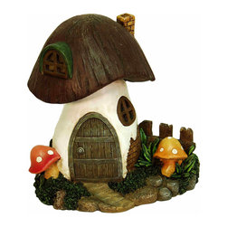 Echo Valley - Solar Toadstool Home - It's been said that fairy houses originated around 100 years ago. They were designed to attract fairies and gnomes that would provide magical protection for farmers' livestock and children through the harsh winters.