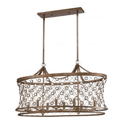 PHX2 Metal and Crystal 8 Lights Chandelier 11571 -