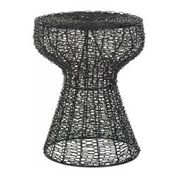 Safavieh - Juliana Stool - The Juliana iron chain stool is your link to a subtle modern update in the casual interior spaces. The industrial-inspired pattern of chain-link is softened by a black epoxy finish, ensuring that it adds just a whisper of urban chic to any decor.