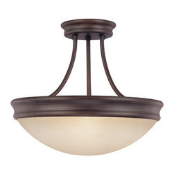 Capital Lighting - Capital Lighting 2047 3 Light Semi-Flush Mount Ceiling Fixture - Capital Lighting 2047 3 Light Semi-Flush Mount Ceiling FixtureSleekly and contemporarily designed, this three light semi-flush ceiling fixture looks good and provides plenty of down light for a room.Features: