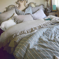 Charlie Duvet - Pom Pom at Home carries some of my favorite linens. It doesn't take much to freshen up your bedroom design: All you need is a new quilt or duvet cover and some shams with throw pillows. The options are endless.