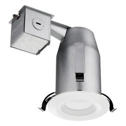 Lithonia Lighting - Lithonia Lighting 3 in. Recessed Matte White LED Baffle Kit LK3BPMW LED HDCOM U - Shop for Lighting & Fans at The Home Depot. The LED 3 in. Recessed Matte White Baffle Kit from Lithonia Lighting makes shopping for and installing recessed down lighting easy by conveniently including a 3 in. remodel housing, decorative trim with integrated LEDs, wire nuts and a cutting stencil all in one box. The energy efficient integrated LEDs operate for 28,000 hours without maintenance, which means you never have to buy or change a bulb. The kit can be converted to new construction using hanger bars and construction pan accessories.