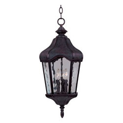 Maxim Lighting - Maxim Lighting 40279WGOB Garden VX 3-Light Outdoor Hanging Lantern - Features