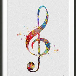 KidsPlayHome - Magic Treble Clef Wall Art - Playroom Art Print