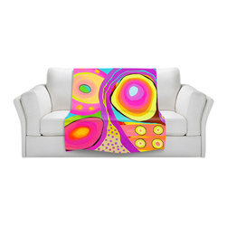 DiaNoche Designs - Throw Blanket Fleece - Psychadelic Sushi - Original Artwork printed to an ultra soft fleece Blanket for a unique look and feel of your living room couch or bedroom space.  DiaNoche Designs uses images from artists all over the world to create Illuminated art, Canvas Art, Sheets, Pillows, Duvets, Blankets and many other items that you can print to.  Every purchase supports an artist!