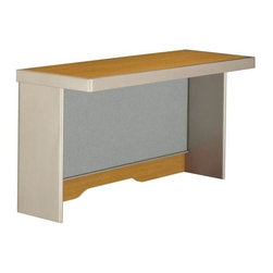 Bush Business - Short Hutch w Tackboard Colored in Cherry for - Style along with organization comes knocking at your office with this modern cherry colored short hutch.  You'll bask in its convenience as you take advantage of its easily accessible fabric tackboard stretching across the hutch.  Use with a left or right corner desk. * Mounts on 47 in. Right or Left Corner Desk on the long edge. Accepts light pack (not included). Includes fabric tackboard. Includes time-saving, Install-Ready features (hutches are partially assembled). 47.244 in. W x 15.236 in. D x 23.031 in. H