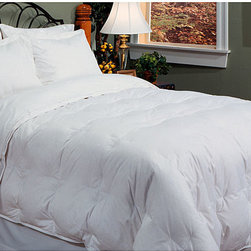 None - Full-size 270 Thread Count Down Blend Comforter - Add a touch of luxury to your bedroom with this cozy down blend comforter. The full-size comforter is made from soft,100 percent cotton with cord detailing and features an ultra-soft down blend fill that stays warm in the winter and cool in the summer.