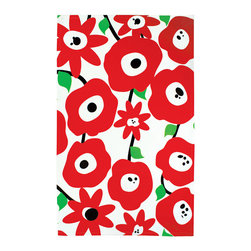 MU Cotton Towel Blossom Red - New designer cotton towels from MU! Dig into these uber-hip prints on big soft cotton towels - perfect for so many tastes.
