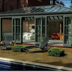Rectangular Conservatory for Pool House Plans -