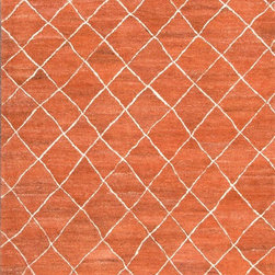 Jaipur Rugs - Hand-Tufted Durable Wool Red/Ivory Area Rug (2 x 3) - Influenced by Moroccan motifs and texture, the Riad Collection adds a sense of culture to your home. Thick pile evokes a sense of warmth and comfort.