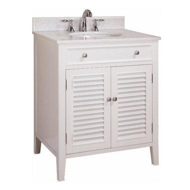 """Tennant Brand - 32"""" Cottage Style Keri Single Sink Bathroom Vanity N1128-32W - Dimensions:"""
