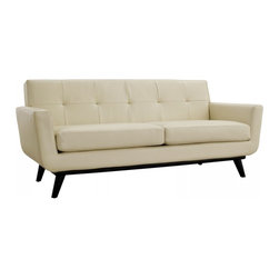 Modway Imports - Modway EEI-1337-BEI Engage Leather Loveseat In Beige - Modway EEI-1337-BEI Engage Leather Loveseat In Beige