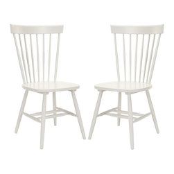 Safavieh - Parker (Set Of 2) - Gray - The Parker chair takes its cues from the classic American country home style but strips away any excess ornamentation Clean lines, simple lines and fresh colors update this airy addition to casual dining rooms.