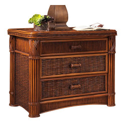 Barbados Three-Drawer Rattan Chest